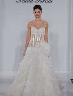 Pnina Tornai - Sweetheart A-Line Gown in Organza