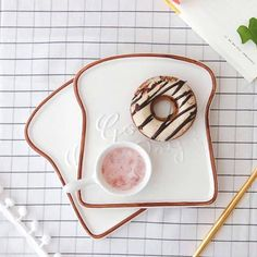 Good day for yourself Toast shape food plates for dinner tray ceramic plates creative dinnerware kitchen tools food tray(China) Kitchen Items, Kitchen Tools, Kitchen Decor, Kitchen Tray, Decorating Kitchen, Kitchen Design, Kitchen Appliances, Ceramic Plates, Ceramic Pottery