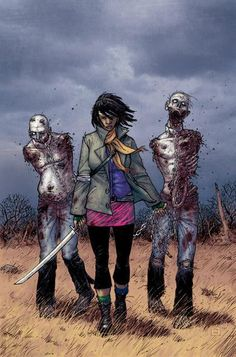 Oooh can I be friends with you Michonne?  Can't wait to watch the next season of The Walking Dead