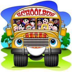 #Schoolbus with #Happy #Children! © bluedarkat #16386523 -     http://us.fotolia.com/id/16386523/partner/200929677