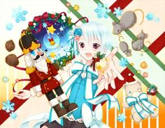 christmas - nutcracker, teddy bear, anime, manga