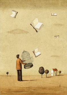 Illustrations about books - Mariusz Stawarski - Set us free