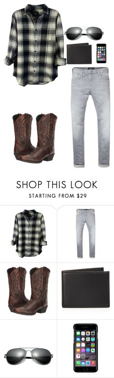 """""""Country Boy"""" by e-m-h12321 ❤ liked on Polyvore featuring Rails, Scotch & Soda, Laredo, The Men's Store, County Of Milan, country, men's fashion and menswear"""