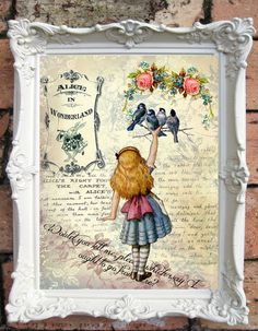 ALICE in Wonderland Quote Art Print. Shabby Chic Decor. Alicein Wonderland Decor. Wall Art. Alice Print. Tea Party. Drink me. Code:A033