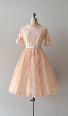 1950s dress / lace 50s dress / Bougeotte lace dress