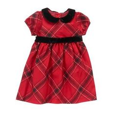 Newborn Royal Red Plaid Plaid Dress by Gymboree Cute Christmas Pajamas, Christmas Outfits, Christmas Minis, Christmas 2017, Red And Black Plaid, Red Plaid, Girls Holiday Dresses, Royal Red, Baby Royal