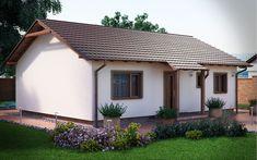 3DVisionDesign - Junior Könnyűszerkezetes családi ház homlokzati látványterve Shed, Outdoor Structures, Little Cottages, Barns, Sheds