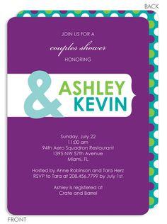 Purple Banner Invitations