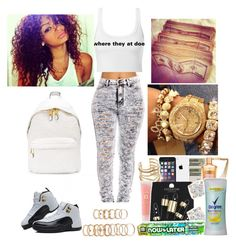 """where they at doe"" by cutie-864 ❤ liked on Polyvore"