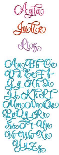 DBJJ Ayla Script Alphabet Font