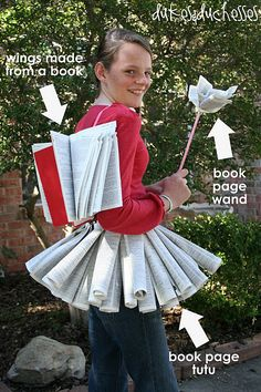 The pirate fairy costume halloween costume do it yourself this book fairy halloween costume is the perfect diy costume for a teen or tween or a book lover using only one used book its also cheap to make solutioingenieria Choice Image