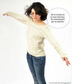 Le pull Auray tricoté en un seul morceau