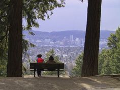 Eastside view of Portland from Mt. Tabor park..my 'hood