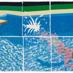 """#MuseumMonday: #DavidHockney's famous """"Paper Pool"""" series will be featured in @themacbelfast's upcoming exhibition """"I draw, I do"""" opening  this Friday, August 19.  Image: David Hockney """"A Diver (Paper Pool 17)"""" 1978. Colored and pressed paper pulp. 72 x 171"""" © David Hockney / Tyler Graphics, LTD. Photo Credit: National Gallery of Australia, Canberra"""