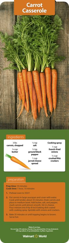 """Even those who don't care for carrots usually like this casserole,"" says Betty M. of Store 2164 in Springville, N.Y. #sides #Thanksgiving #recipe"