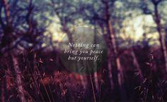 """""""Nothing can bring you #peace but yourself."""" -- Ralph Waldo #Emerson. Photo © Julian Bialowas."""