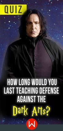 See how long you would last as a professor of Defense Against the Dark Arts by testing your knowledge of spells and magical creatures!