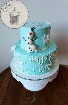 Frozen Theme. Olaf. Cake. Frozen Birthday Cake