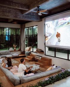 Welcome to the beautiful Bali villa belonging to & Featuring a sunken seating area gorgeous . Home Room Design, Dream Home Design, My Dream Home, Home Interior Design, Living Room Designs, Design Of House, Best House Designs, Loft House Design, Best Modern House Design