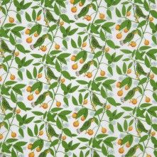 Bright+Green+Floral+Printed+Cotton+Poplin