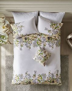 Gem Gardens cotton double duvet cover - Ivory | Gifts For Her | Ted Baker UK