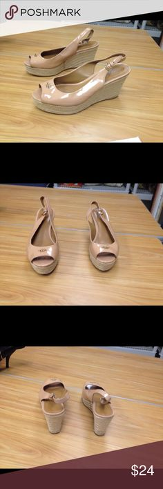 Coach shoes size 8.5B 100% of proceeds go to the National Alliance of Mental Illness (NAMI) of Palm Beach County, Florida.  NAMI provides education, support and advocacy with the goal to empower individuals and their families living with mental illness. Coach Shoes Wedges
