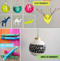 DIY Christmas decorations! I wanna do neon decorations like this this year. I have glitter ones I did last year.