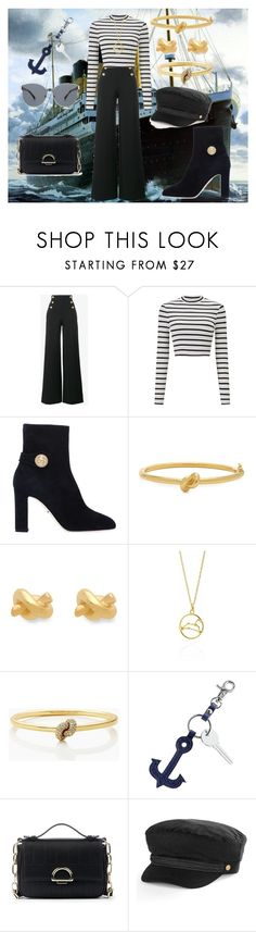 """Sailor"" by cecilvenekamp ❤ liked on Polyvore featuring Alberta Ferretti, Miss Selfridge, Dolce&Gabbana, Kate Spade, Mark & Graham, Sole Society, Apt. 9 and Karen Walker"