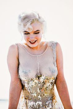 Marilyn photographed on the set of 'Some Like It Hot' by Richard C. Miller.