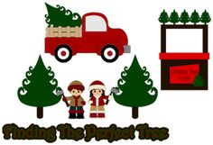 Finding the Perfect Tree by ScrappyDew.com. Paper piecing pattern files.