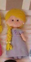 Detalhes e Artes: Moldes das Bonecas Princesas Disney em Feltro: Rapunzel