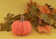 Little crocheted pumpkin you can whip up in no time!.