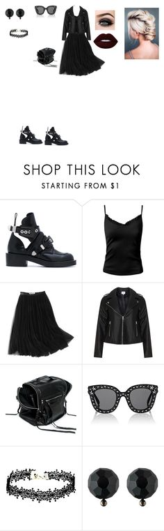 """Casual Outfit"" by helena94-1 on Polyvore featuring Balenciaga, Sans Souci, WithChic, Zizzi, McQ by Alexander McQueen, Gucci, Ralph Lauren, ASAP, Lime Crime and polyvorefashion"