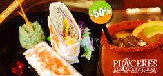 Placeres Restaurant Bar en Mezcales - $82 en lugar de $165 por 1 Deliciosa Burrita de Mantarraya con Guacamole + 1 Cantarito Click http://cupocity.com