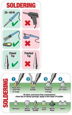 The Basics Of Soldering Explained [Infographic] & Lifehacker Australia The Basics Of Soldering Explained [Infographic] & Lifehacker Australia The post The Basics Of Soldering Explained [Infographic] Electronic Circuit Projects, Electronic Engineering, Electrical Engineering, Mechanical Engineering, Electronics Components, Electronics Gadgets, Electronics Projects, Geek Gadgets, Home Electrical Wiring