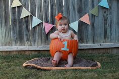 My second cousin. Adorable first birthday pic!