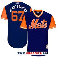 Men's New York Mets Seth Lugo -Quarterrican- Majestic Royal 2017 Little League World Series Players Weekend Stitched Nickname Jersey