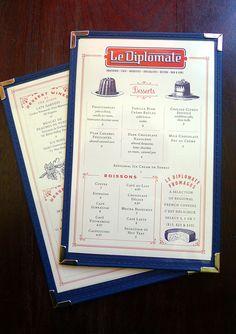 Le Diplomate menu