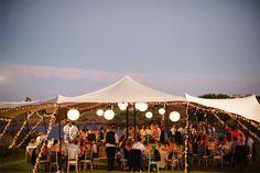 Casamento numa tenda. #casamento #tenda #arlivre #luzes #Portugal #Fotografamos