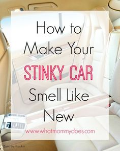 How to Make Your Stinky Car Smell Like New – This is my favorite car cleaning hack…air fresheners hidden in plain sight! Car Cleaning Hacks, Deep Cleaning Tips, Car Hacks, House Cleaning Tips, Diy Cleaning Products, Cleaning Solutions, Spring Cleaning, Car Interior Cleaning, Cleaning Recipes