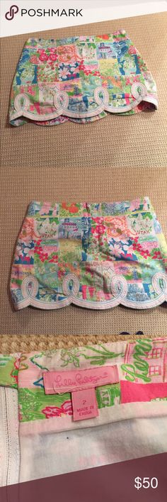 VINTAGE LILLY mini skirt.. love it so cute with a white tank Lilly Pulitzer Skirts Mini
