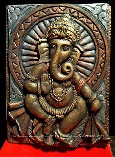 Ganesha Painting, Tanjore Painting, Lotus Painting, Painting Of Girl, Mural Wall Art, Wall Art Decor, Stone Sculpture, Sculpture Art, Ganesh Wallpaper