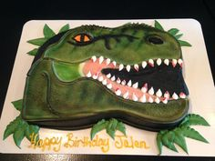 Buttercream t-rex cake