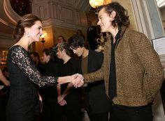 Kate Middleton & One Direction from Stars Meeting Royals