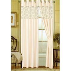 The Scala Grommet Top Curtain Panels come in 16 colors! These uniqu...