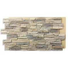 Faux brick paneling for home exterior (to cover the cement base alongside the driveway). Alpi Panel - Almond 24 x 48 Stacked Stone Panels, Faux Stone Panels, Faux Panels, Faux Stone Sheets, Stone Siding Panels, Stone Veneer Panels, Newel Post Caps, Interior Window Trim, Fake Stone