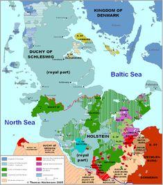 Map of Schleswig-Holstein 1730