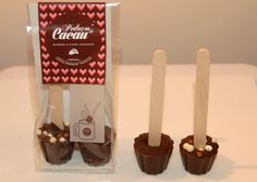 Chocolate on a stick Candles, Chocolate, Bonbon, Truffles, Candy, Chocolates, Candle Sticks, Brown, Candle