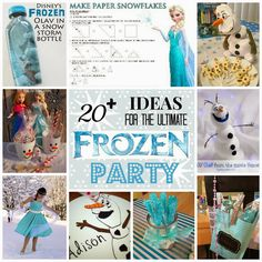 If you're planning a party based on Disney's movie FROZEN, check out this round-up of more than 20+ creative, clever and frugal crafts for the ultimate #frozenparty