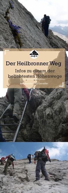 The Heilbronn High Trail – one of the most popular mountain trails in the Alps. It leads over the main ridge of the Allgäu mountains. The easiest way to do it as part of a hut hike from the Rappenseehütte to Kemptnerhütte. Good hut tour for beginners. Appalachian Trail, Hiking Germany, Outdoor Reisen, Plus Populaire, Mountain Trails, South Tyrol, Weekend Breaks, Fitness Gifts, Camping